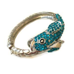 Rhinestone Fish Bracelet